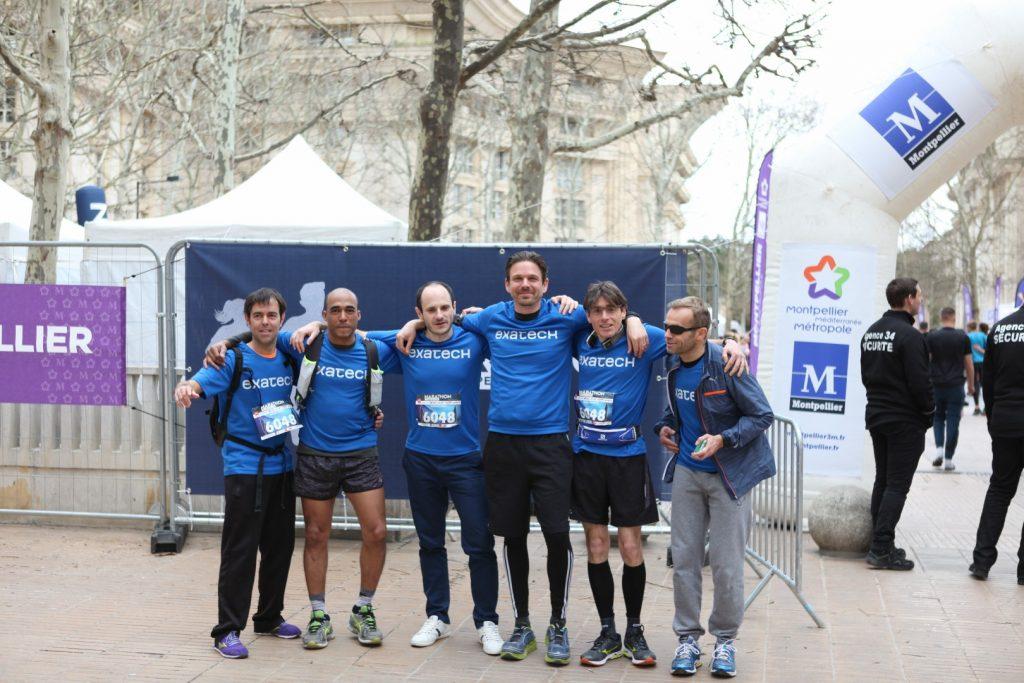 L'équipe d'Exatech court le marathon