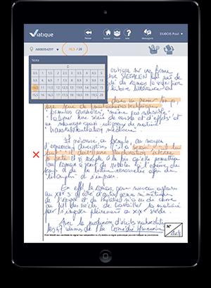 Correction dématérialisée sur tablette
