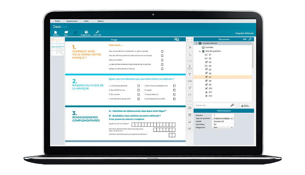 Création et lecture automatique de formulaires Data Scan